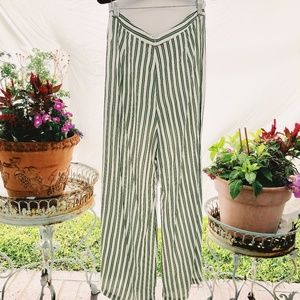 Faithfull the Brand Striped Wide-Leg Cropped Pants
